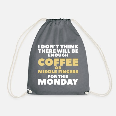Middelvinger Funny Coffee Quotes> Enough middelvingers - Gymtas