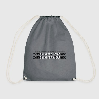 Bible Verse John 3:16 - The Bible - Bible verses - Drawstring Bag