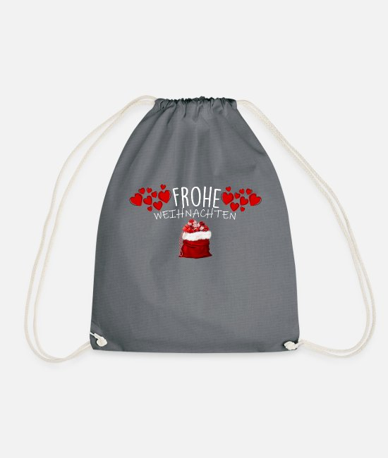 Snowman Bags & Backpacks - Merry Christmas - Merry Christmas - Drawstring Bag grey