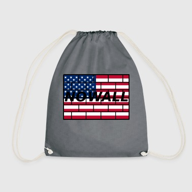 no wall - Drawstring Bag
