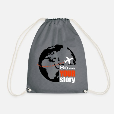 So what's your story - Drawstring Bag