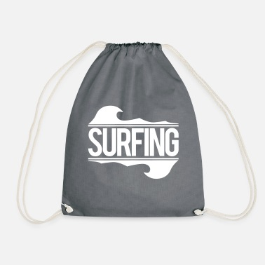 Surf surfing - Drawstring Bag