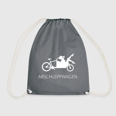 Cargo bike tow truck white - Drawstring Bag
