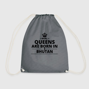 gift queens are born BHUTAN - Drawstring Bag