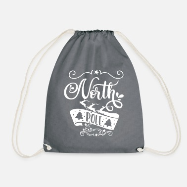 North Yorkshire North Pole white - Drawstring Bag