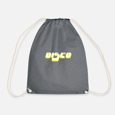 Disco white yello - Drawstring Bag
