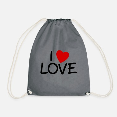 Lovely Love Love Love - Drawstring Bag