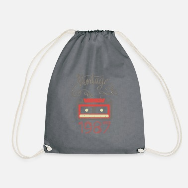 Vintage built 1987 - Drawstring Bag