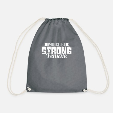 Strong PRODUCT OF A STRONG FEMALE - Drawstring Bag