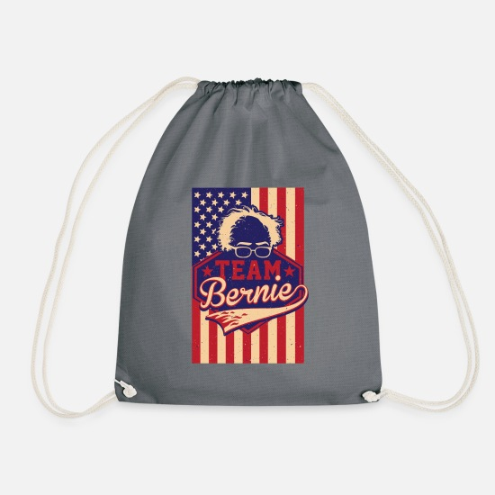 Democratic Party Bags & Backpacks - Team Bernie Sanders 2020, Bernie for President - Drawstring Bag grey