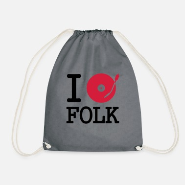 Folk i dj / play / listen to folk - Gymnastiktaske
