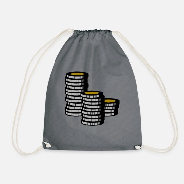 Chip Leader Poker Chip Leader Chips Money Cash - Drawstring Bag