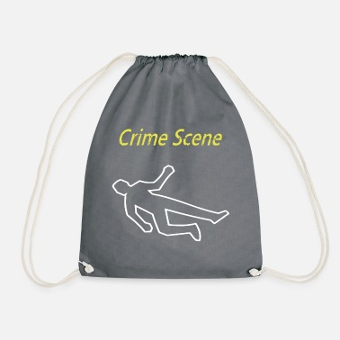 Crime Scene crime scene - Drawstring Bag