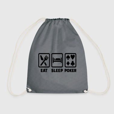 Holdem Eat Sleep Poker Funny Poison Texas Holdem - Drawstring Bag