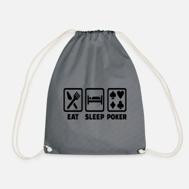 Holdem Eat Sleep Poker Funny Poison Texas Holdem - Mochila saco