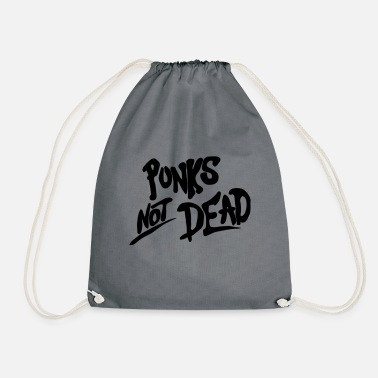 Punks not dead black - Drawstring Bag