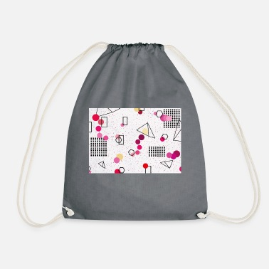 memphis pattern - Drawstring Bag