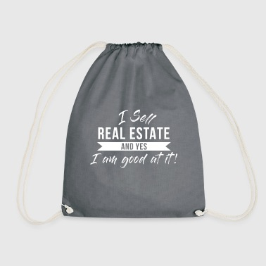 Estate Agent Real Estate Agent - Realtor, Real Estate, House - Drawstring Bag