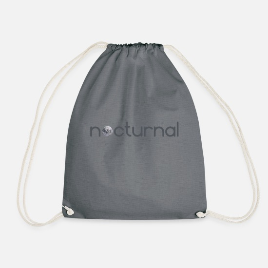 Nocturnal Bags & Backpacks - nocturnal night - Drawstring Bag grey