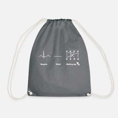 V8 engine Crossplain Heartbeat design - Drawstring Bag