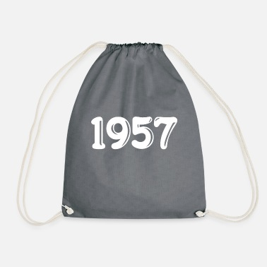 1957 Born in 1957 - Drawstring Bag