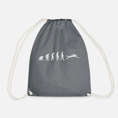 Swim The Evolution Of Swimming - Drawstring Bag