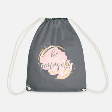 Yourself be yourself be yourself - Drawstring Bag