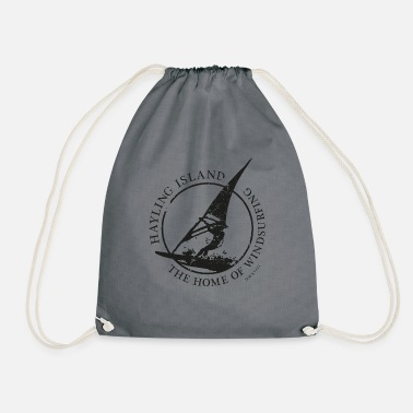 windsurfer black - Drawstring Bag