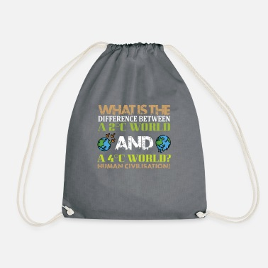 Climate Change Firdays for future climate change saying - Drawstring Bag