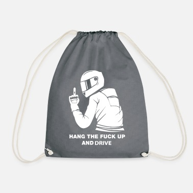 Motorcyclist motorcyclist - Drawstring Bag