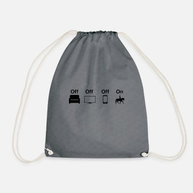 ride, horse - Drawstring Bag
