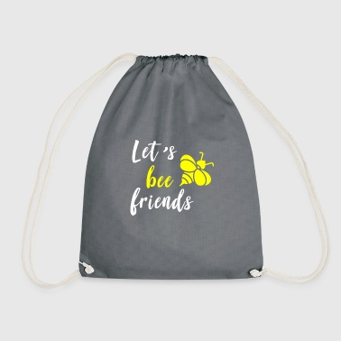 Let's bee friends - Drawstring Bag