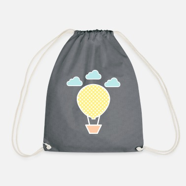 Hot Air Balloon Hot air balloon kids motif - Drawstring Bag