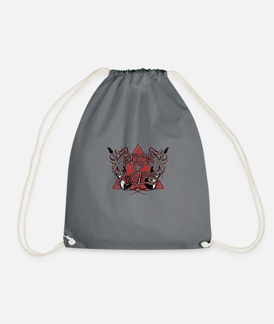 Heavy Metal Bags & Backpacks - Rock of Ages - Drawstring Bag grey