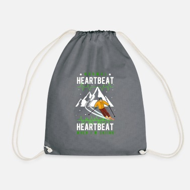 Ski Winter Sports Heartbeat Heartbeat - Gift - Drawstring Bag