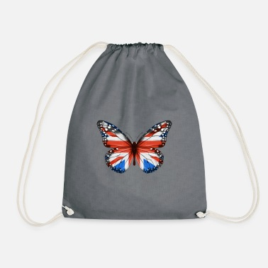 Irish Butterfly Flag Of Great Britain - Drawstring Bag
