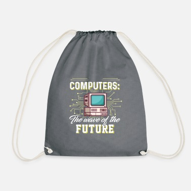 Lunstig Computers - The wafe of the future - Drawstring Bag