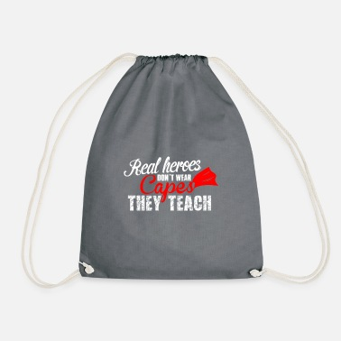 Teaching teach hero teach - Drawstring Bag