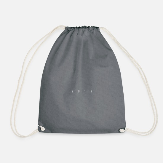 2019 Bags & Backpacks - 2019 stroked - Drawstring Bag gray