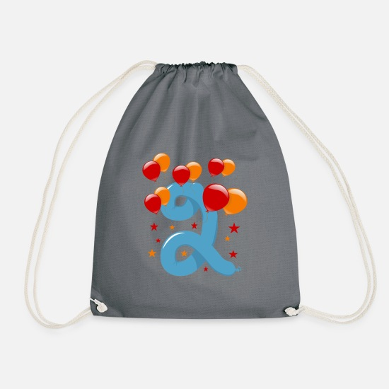 Year Bags & Backpacks - 2nd birthday 2 years - Drawstring Bag gray