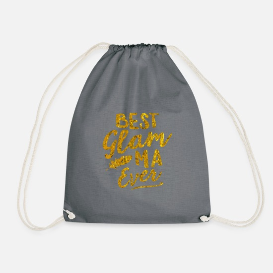 Grandma Bags & Backpacks - GlamMa Grandma Mothers Day - Drawstring Bag gray