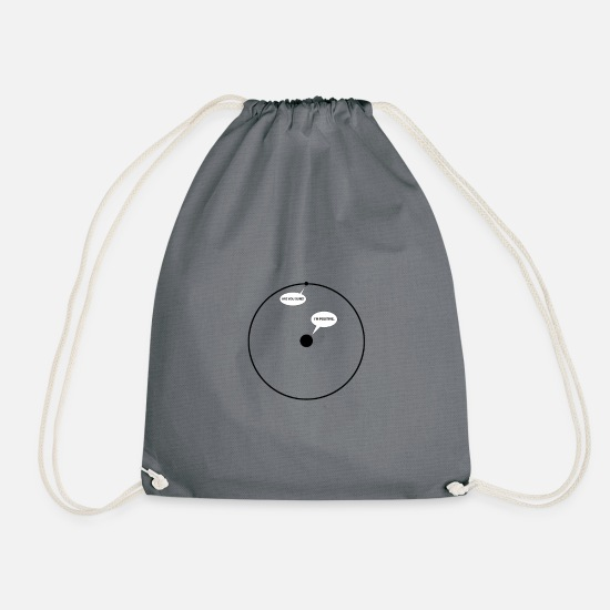 Hydrogen Bags & Backpacks - Hydrogen Humor - Drawstring Bag gray