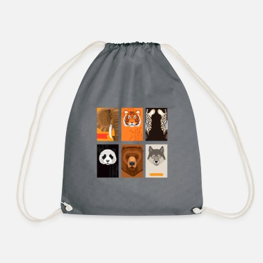 Wild Animal Wild animals - Drawstring Bag