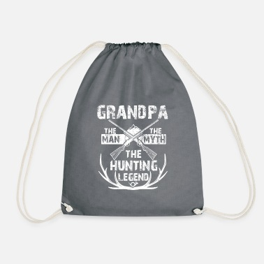 Man Mens Grandpa The Man The Myth The Hunting Legend - Drawstring Bag