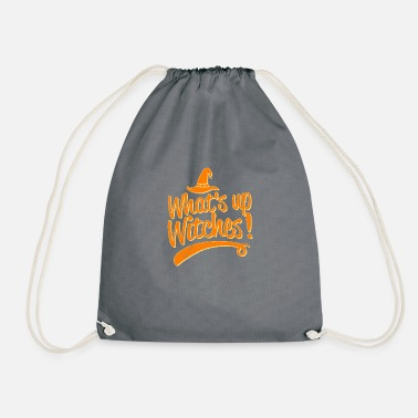 Octobre Whats up Witches Halloween Costumes graphique Funny - Sac à dos cordon
