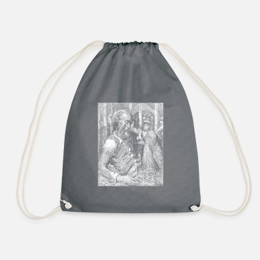 Sir Don Quixote graphic | Quijote by Cervantes - Fine - Drawstring Bag
