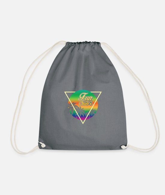 Surfer Bags & Backpacks - Summer sun holiday - Drawstring Bag grey