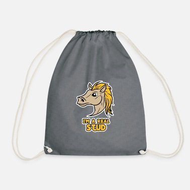 Mare Proud mare riding horse - Drawstring Bag