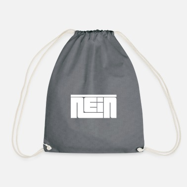 Lettering No lettering - Drawstring Bag