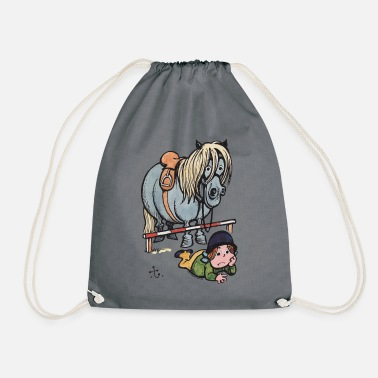 Thelwell Funny Showjumping Gone Wrong - Drawstring Bag